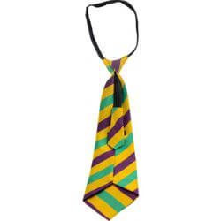 Mardi Gras Striped Neck Tie
