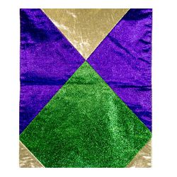 72in Long x 13in Wide Mardi Gras Table Runner