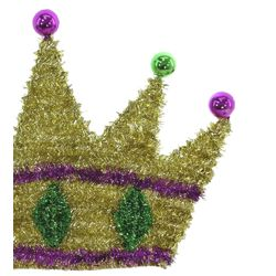 22in Wide x 14.5in Tall Tinsel Wire Crown Decoration