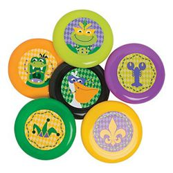 3.5in Mardi Gras Mini Flying Discs