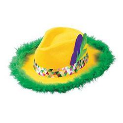 Gangster Mardi Gras Fedora Felt Hat