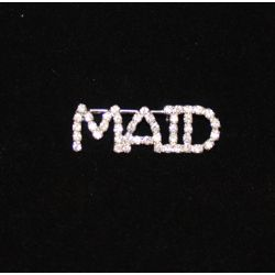 1.75in Long x 0.5in Tall Rhinestone Maid Pin