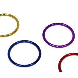 5mm Metallic Assorted Plastic Bangle Bracelets