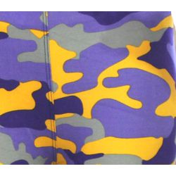 Purple/ Yellow Camouflage Pattern Leggings