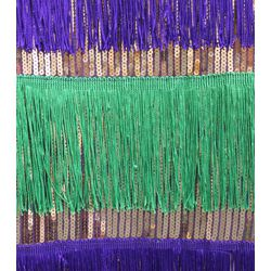 Mardi Gras Sequin Dress w/ Fringe Size XLarge