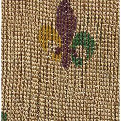 Mardi Gras Gold Shimmer Scarf with Fleur De Lis Design