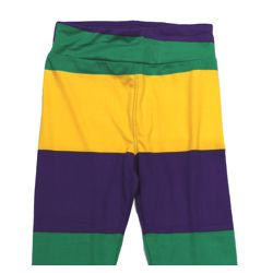 Mardi Gras Striped Kids Leggings Size Medium