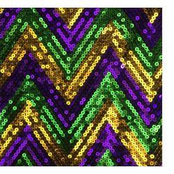 Mardi Gras Sequin Chevron Fringe Vest/ Top