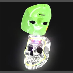 8in Light Up Mardi Gras Double Mask