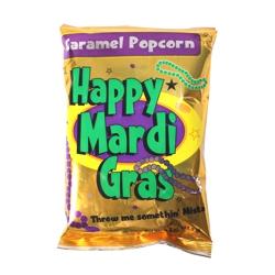 Mardi Gras Caramel Popcorn