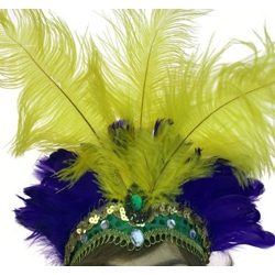 Mardi Gras Headband w/ Feather