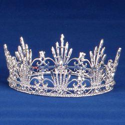 2.25in Tall Rhinestone Mardi Gras Crown