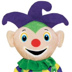 12in Tall x 6.5in Wide Mardi Gras Jester Plush Toy