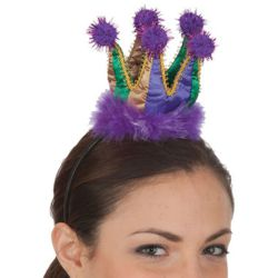 Mini Mardi Gras Crown Headband