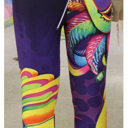 Mardi Gras Carnival Leggings w/ Feather Mask Design - KIDS Size