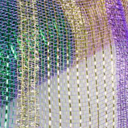 10.5in x 30ft Mardi Gras Tinsel Stripe Deco Mesh