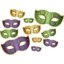 Mardi Gras Mask Cutouts Assortment
