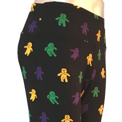 Mardi Gras Leggings w/ King Cake Babies Design