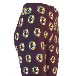 Mardi Gras Leggings w/ King Cake Design Curvy