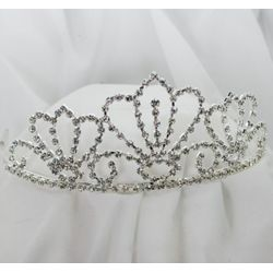 2.75in Tall Rhinestone Queen Crown Shape Tiara
