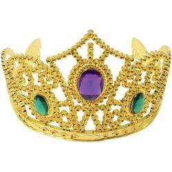 Mardi Gras Metallic Gold Tiaras with Stones