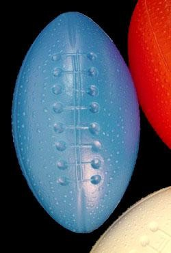 4in Assorted Red White Blue Plastic Football