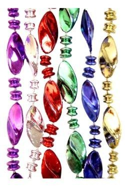 96in Metallic 6 Assorted Color Twist Bead