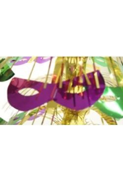 18in Metallic Purple/ Green/ Gold Cat Eye Mask Centerpiece