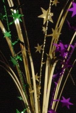 Metallic Purple Green and Gold Star Onion Grass