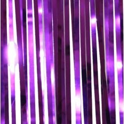 10ft x 15in Metallic Purple Fringe