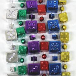 48in 16mm/12mm 6 Assorted Color Dice Beads
