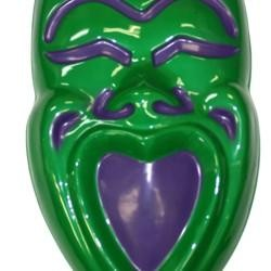 21in x 13in Metallic Green Comedy Face Wall Plaque