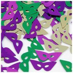 2oz 16mm Metallic Purple/ Green/ Gold Cat Eye Mask Confetti