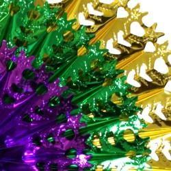 23in x 3in Metallic Purple Green Gold Hanging Decoration/ Burst Fan