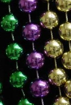 7mm 42in Purple, Green, Gold Mardi Gras Beads