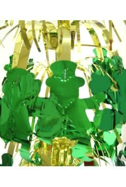 18in Gold Centerpiece w/ Green Leprechaun
