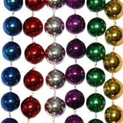 10mm 42in Assorted Color Mardi Gras Beads