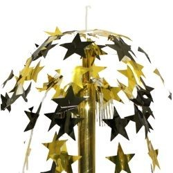 24 inch black and gold star cut fountain