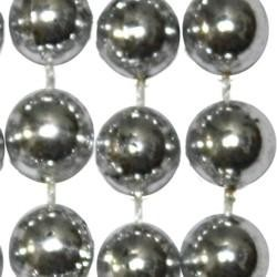 10mm 33in Metallic Silver Beads