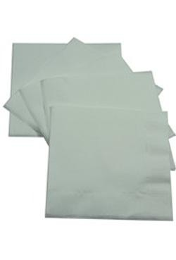 5in x 5in White Beverage Napkins
