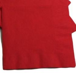 6.5in x 6.5in Red Lunch Napkins