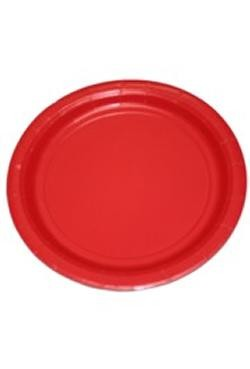 9in Red Paper Plates