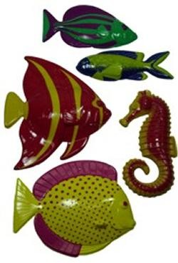 10in-12in Assorted Plastic Fish