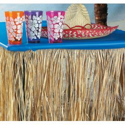 9ft x 29in Natural Raffia Luau Table Skirt