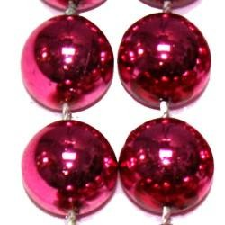12mm 42in Hot Pink Beads
