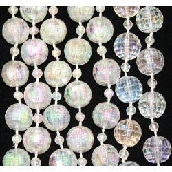 12mm 42in Clear AB Disco Ball Beads