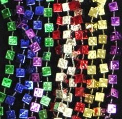 6.5mm 33in Color Dice Beads
