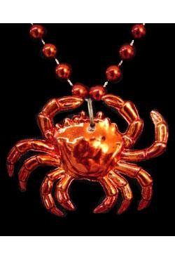 33in Red Crab Beads