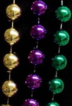 18mm 48in Purple, Green, Gold Beads