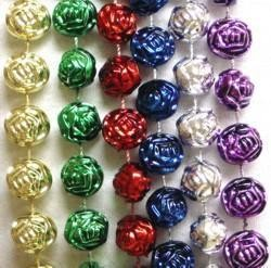 72in 16mm Metallic 6 Assorted Color Rose Beads